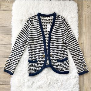 Ann Taylor LOFT NWT Sweater Cardigan Navy Blue